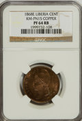 Liberia, Liberia: Republic Pattern Cent in Copper 1868-E,...