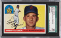 Baseball Cards:Singles (1950-1959), 1955 Topps Harmon Killebrew Rookie #124 SGC 96 Mint 9....