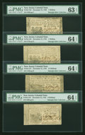 Colonial Notes:New Jersey, Four Choice Uncirculated New Jersey December 31, 1763 Notes....(Total: 4 notes)