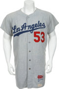 Baseball Collectibles:Uniforms, 1966 Don Drysdale Game Worn Jersey....