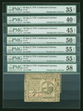 Colonial Notes:Continental Congress Issues, Attractive Group of Continental Currency May 9, 1776 Notes....(Total: 7 notes)
