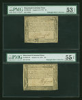 Colonial Notes:Maryland, Maryland August 14, 1776 $1 and $2.... (Total: 2 notes)