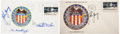 Autographs:Celebrities, Apollo 16 Crew-Signed Insurance Cover and Young-Signed Launch Cover Directly from the Personal Collection of Mission Commander... (Total: 2 Items)