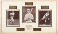 Autographs:Others, Circa 1932 New York Yankees Hall of Famers Signed Album Page withGehrig, Ruffing....