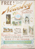 Miscellaneous Collectibles:General, 1887-89 Newsboy Trading Cards Advertising Sign....