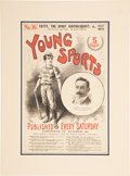 Baseball Collectibles:Others, Circa 1898 Young Sports Publication with Ned HanlonCover....