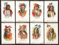 "Non-Sport Cards:Sets, Circa 1910 S67 Indian Chiefs Silks Complete Set (50) - A Matching""Tokio"" Brand Assembly. ..."