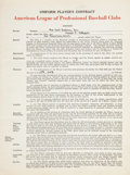 Autographs:Others, 1949 Joe DiMaggio Signed New York Yankees Contract....