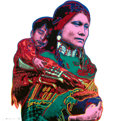 Fine Art - Work on Paper:Print, ANDY WARHOL (American, 1928-1987). Mother and Child from the Cowboys and Indians Portfolio, 1986. Screenprint in colors ...