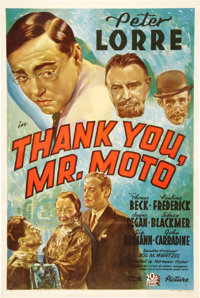 "Thank You, Mr. Moto (20th Century Fox, 1937). One Sheet (27"" X 41"")"