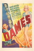 "Movie Posters:Musical, Dames (Warner Brothers, 1934). One Sheet (27"" X 41"").. ..."