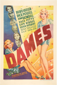 "Dames (Warner Brothers, 1934). One Sheet (27"" X 41"")"