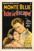 "Movie Posters:Adventure, Isle of Escape (Warner Brothers, 1930). Autographed One Sheet (27""X 41"").. ..."