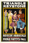 "Movie Posters:Comedy, Fickle Fatty's Fall (Triangle-Keystone, 1915). One Sheet (27"" X41"").. ..."