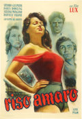"""Movie Posters:Drama, Bitter Rice (Lux Film, 1949). Italian Poster (27.25"""" X 39.5"""").. ..."""