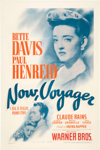 """Now, Voyager (Warner Brothers, 1942). One Sheet (27"""" X 41"""")"""
