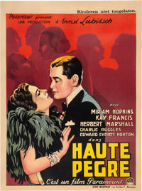 "Trouble in Paradise (Paramount, 1932). Pre-War Belgian (24.5"" X 33"")"