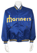 Baseball Collectibles:Uniforms, 1982-83 Gaylord Perry Game Worn Warm-Up Jacket....