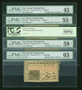 Colonial Notes:New Jersey, Mixed New Jersey March 25, 1776 notes.... (Total: 5 notes)