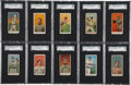 Baseball Cards:Lots, 1909-11 E90-1 Amer. Caramel Baseball Group Lot of (10) - With SixHoFers!...