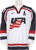 Hockey Collectibles:Uniforms, 2003 Phil Housley World Championships Game Worn Jersey....