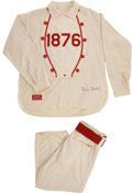 "Baseball Collectibles:Uniforms, 1976 Robin Roberts Game Worn ""1876"" Uniform from First Pitch Ceremony...."