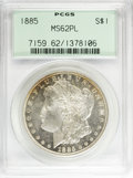 Morgan Dollars: , 1885 $1 MS62 Prooflike PCGS. PCGS Population (163/1150). NGC Census: (69/897). Numismedia Wsl. Price for NGC/PCGS coin in ...