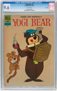 Yogi Bear #8 File Copy (Dell, 1962) CGC NM+ 9.6 Off-white pages