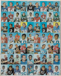 Football Cards:Sets, 1970 Topps Super Football Uncut Sheet. ...