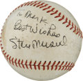 Autographs:Baseballs, 1963 Branch Rickey Signed Baseball....