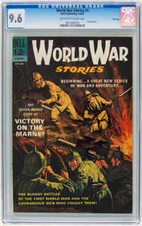 World War Stories #1 File Copy (Dell, 1965) CGC NM+ 9.6 Off-white to white pages