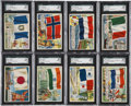 "Non-Sport Cards:Sets, 1956 Topps ""Flags of the World"" Complete Set (80)...."