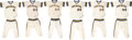 Baseball Collectibles:Uniforms, 1976 Milwaukee Brewers Game Worn Complete Uniforms Lot of 6....