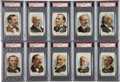 "Non-Sport Cards:Sets, 1889 N124 Duke & Sons ""Presidential Possibilities"" PSA-GradedPartial Set (14 Different). ..."