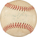 Autographs:Baseballs, 1946 Ty Cobb & Honus Wagner Signed Baseball with IncredibleProvenance!...