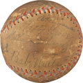 Autographs:Baseballs, 1930's Baseball Legends Multi-Signed Baseball with Ruth, Gehrig....