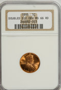 Lincoln Cents: , 1995 1C Doubled Die Obverse MS66 Red NGC. PCGS Population(4293/5359). Numismedia Wsl. Price for NGC/PC...