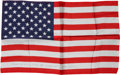 Explorers:Space Exploration, Gemini 7 Flown Large-Size American Flag Directly from the PersonalCollection of Mission Pilot James Lovell, Certified and Sig...
