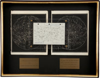 Apollo 16 Lunar Module Flown Star Chart and G&N Dictionary Star List Originally from the Collection of Mission L...