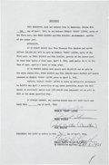 """Boxing Collectibles:Autographs, 1966 Charles """"Sonny"""" Liston Signed Fight Contract...."""