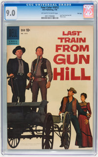 Four Color #1012 Last Train From Gun Hill - File Copy (Dell, 1959) CGC VF/NM 9.0 Off-white to white pages