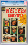 Silver Age (1956-1969):Western, Dell Giant Comics Western Roundup #15 File Copy (Dell, 1956) CGCNM+ 9.6 Off-white to white pages....