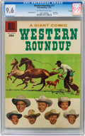 Silver Age (1956-1969):Western, Dell Giant Comics Western Roundup #17 File Copy (Dell, 1957) CGCNM+ 9.6 Off-white to white pages....