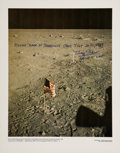 Autographs:Celebrities, Buzz Aldrin Signed Large Color NASA Lithograph....