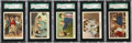 Non-Sport Cards:Singles (Pre-1950), 1959 Fleer Three Stooges SGC-Graded Collection (5)....