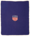 """Football Collectibles:Others, 1958 Jim """"Red"""" Phillips College All-Star Game Blanket...."""