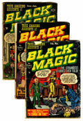Golden Age (1938-1955):Horror, Black Magic V1#3-6 Group (Prize, 1951) Condition: Average FR/GD....(Total: 4 Comic Books)