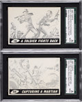 Non-Sport Cards:Singles (Pre-1950), 1962 Topps Mars Attacks Blank Back Printer Proofs Pair (2)....