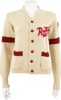 Hockey Collectibles:Uniforms, Mid-1950's Detroit Red Wings White Cardigan Sweater....