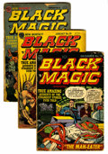 Golden Age (1938-1955):Horror, Black Magic Group (Prize, 1952-53) Condition: Average GD....(Total: 8 Comic Books)